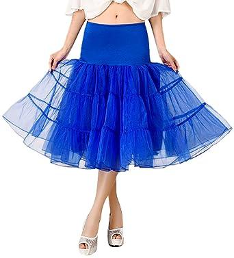 FEOYA 50er Jahre Braut Vintage Petticoat Reifrock Retro Unterrock Underskirt  Tüllrock Krinoline für Rockabilly Kleid -