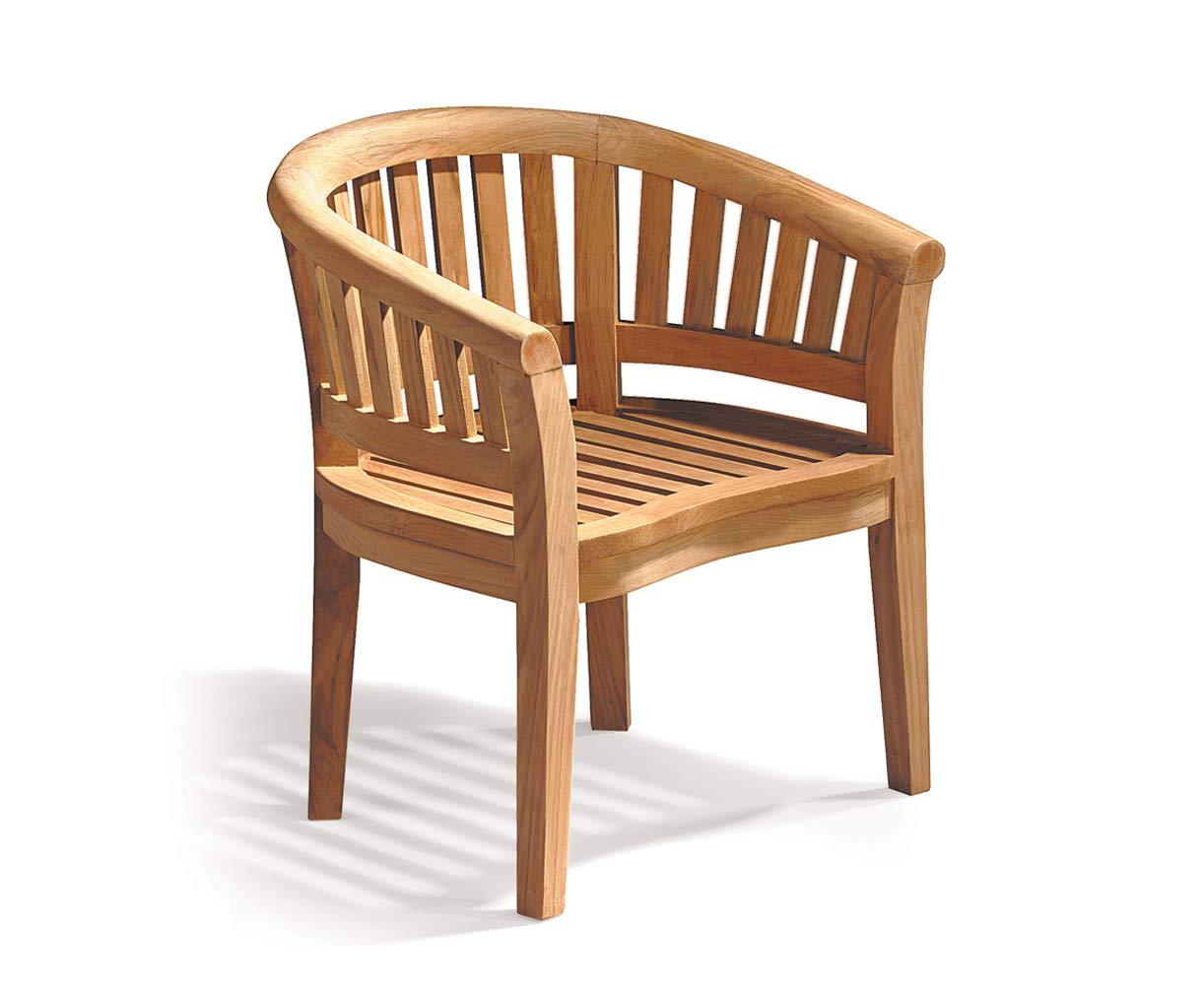 Jati Teak Curved Banana Garden Chair, Outdoor Armchair Brand, Quality & Value
