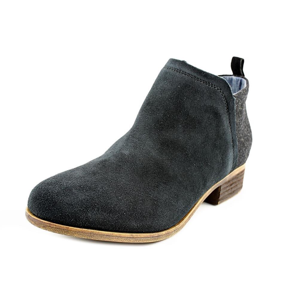 TOMS Womens Deia Ankle Boots, Black/Black, 7 B(M) US