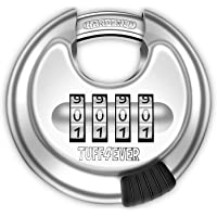 Tuff4ever Candado Combinación de 4 dígitos, Candado Numeros con Grillete de Acero Endurecido Cerradura Puerta Exterior…