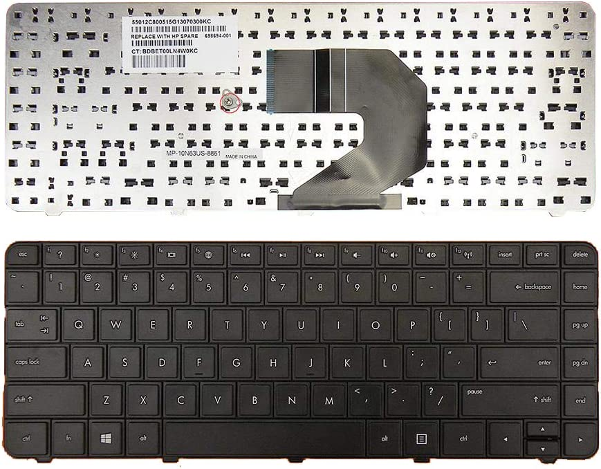 Replacement Keyboard for HP CQ57 CQ58 G4-1000 G6-1000 2000 2000-100 2000-200 2000-300 2000T-300 2000-400 2000-340CA 2000-350US 2000-351NR 2000-352NR 2000-2d07CA 2000-2d09CA 2000-2d09WM US Englih