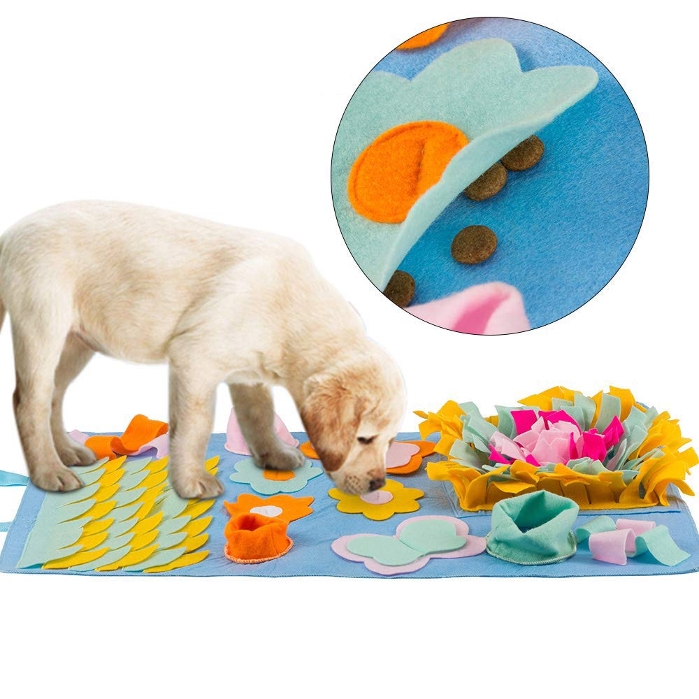 PETSUPPLY Multi-Functional Pet Dog Snuffle Mat,Snuffle Mat for Dogs Pet Feeding Mat Training Mats Encourages Natural Foraging,Skills Encourages Natural Foraging Skills