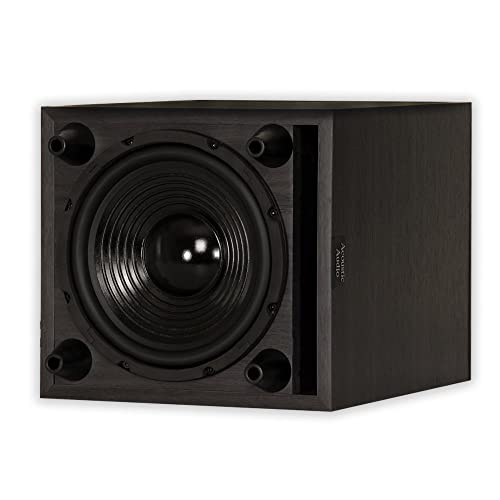 Acoustic Audio PSW-8 300 Watt 8-Inch Down Firing Powered Subwoofer (Black)