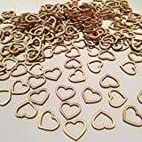 FOLWEP Hollow Mini Wooden Hearts, Vintage Crafts