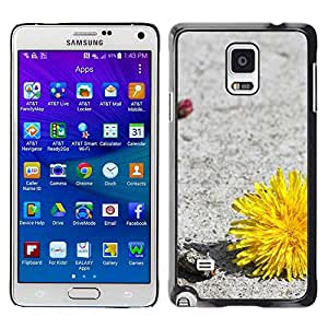 LECELL -- Funda protectora / Cubierta / Piel For Samsung Galaxy Note 4 SM-N910F SM-N910K SM-N910C SM-N910W8 SM-N910U SM-N910 -- Plant Nature Forrest Flower 34 --