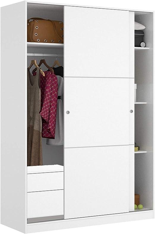HABITMOBEL Armario Dormitorio 204 Altura con CAJONERA 2 Puertas correderas: Amazon.es: Hogar