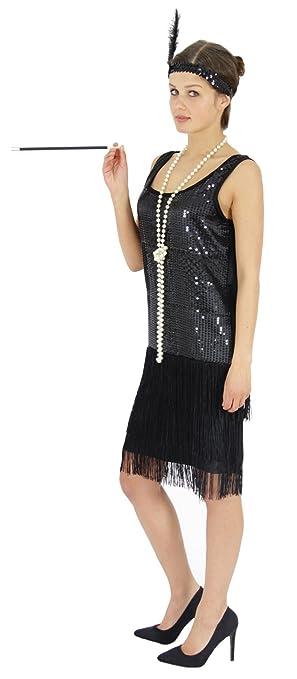 Vestido de mujer de los años 20, disfraz de charlestón, excelentes ...