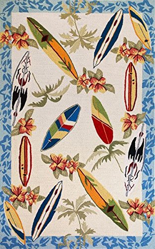 KAS Oriental Rugs Sonesta Collection Surf Boards Area Rug, 3'3