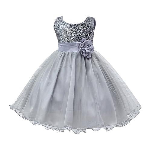 Girls Kids Sleeveless Wedding Bridesmaid Formal Party Princess Flower Dress