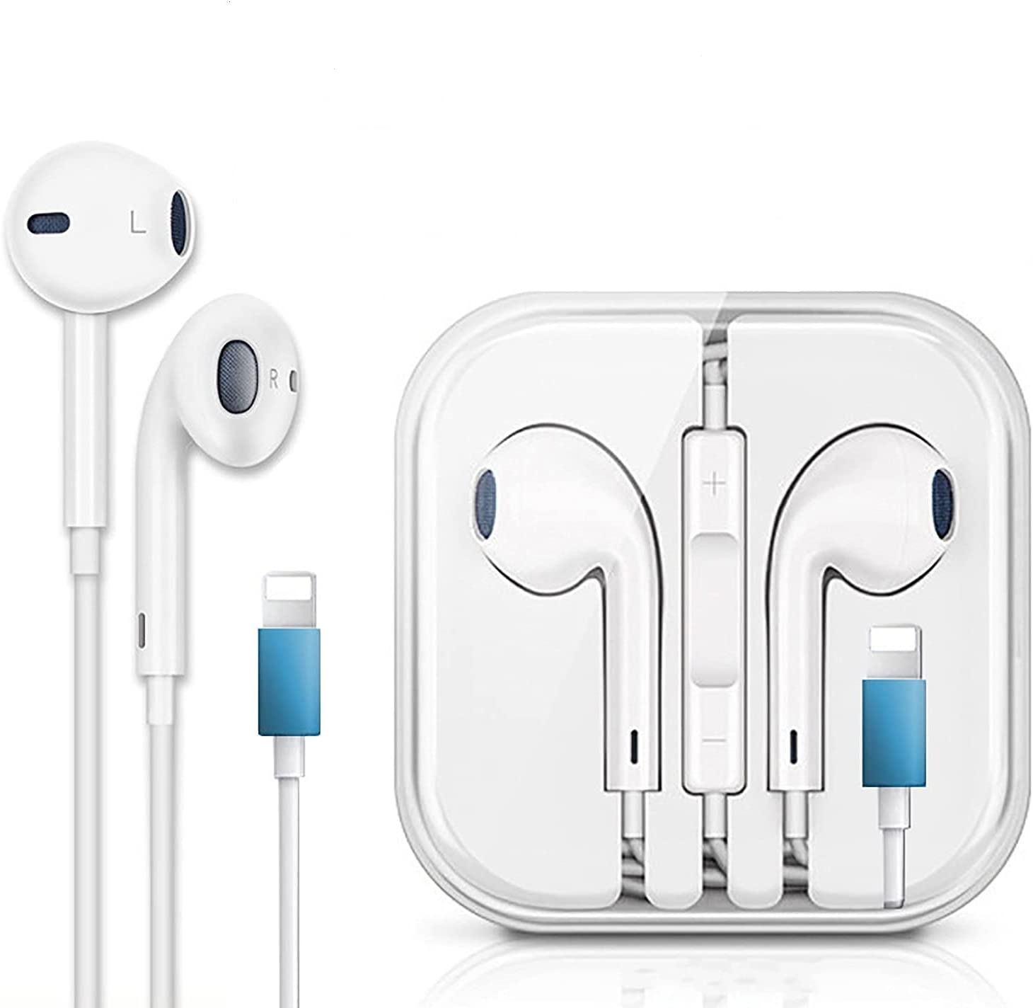 Wired Headset for iPhone Headphones Wired in Ear Magnetic Earbuds with Mic & Volume Control for iPhone xr Headphones Compatible with iPhone,7/7P,8/8P,X,XS,XS MAX,XR, iPad Air,iPad Pro,iPad