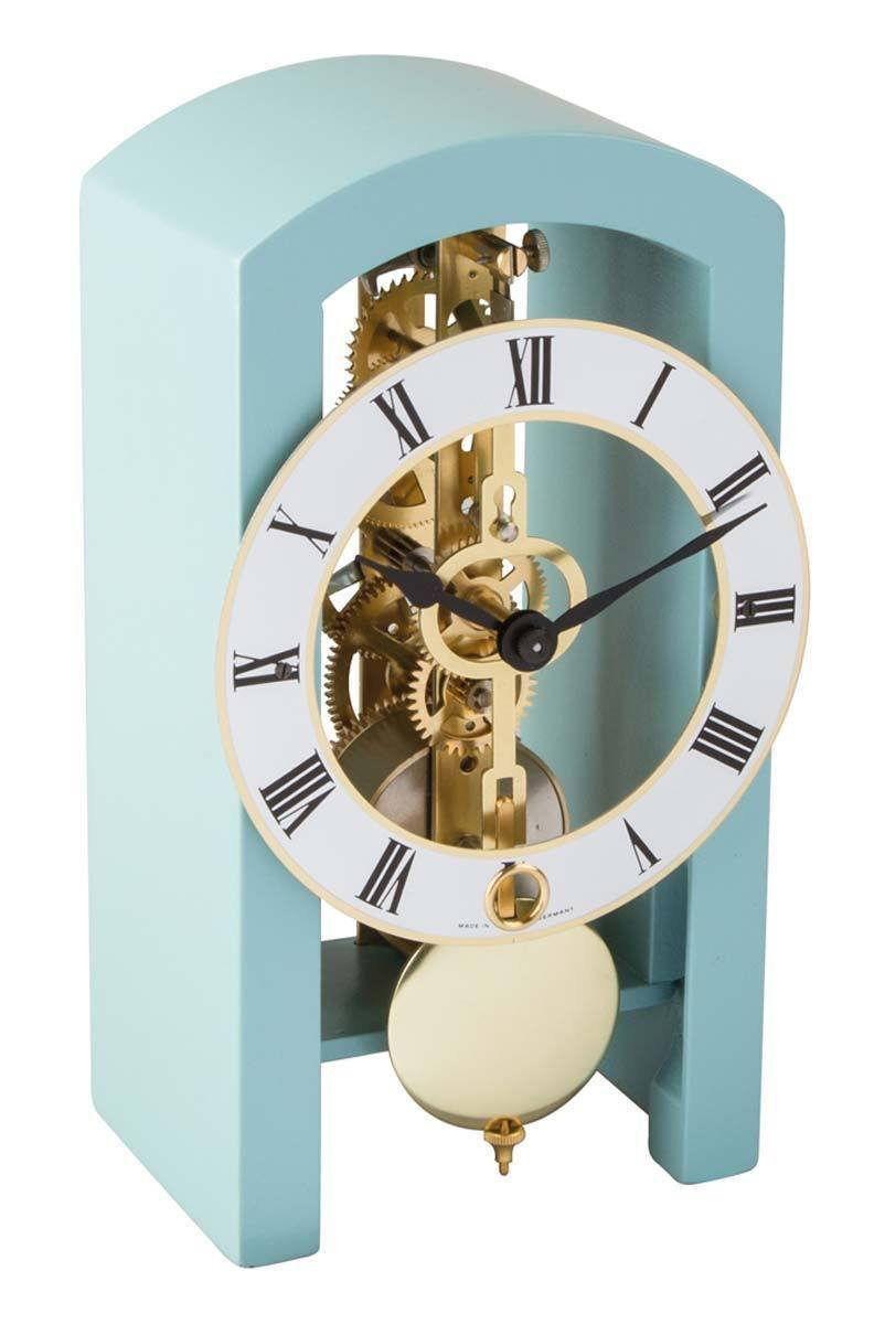 Hermle 23015S40721 Patterson Contemporary Table Clock - Light Blue