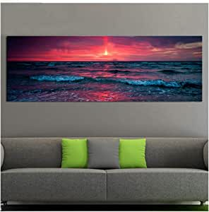 DIY 5D Diamond Painting Kits for Adults Full Drill Embroidery Sunset Over The Sea Arts Crafts for Home Wall Decor Square Drill 80x220cm H5964