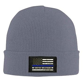 Amazon.com  WHROOER THIN BLUE LINE - BLUE LIVES MATTER Unisex Warm Winter  Hat Knit Beanie Skull Cap Cuff Beanie Hat Winter Hats Black  Home   Kitchen bed52aa52121