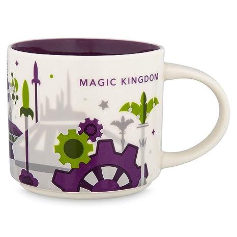87f5805b6b2 Amazon.com | 2018 Disney Magic Kingdom Version 3 You Are Here (YAH)  Starbucks Mug. NWT: Coffee Cups & Mugs