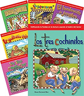 Childrens Folk Tales and Fairy Tales 6-Book Spanish Set (Building Fluency through Readers
