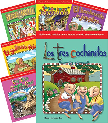 Teacher Created Materials - Reader's Theater: Children's Folk Tales and Fairy Tales (Spanish) - 6 Book Set - Grades K-1 - Guided Reading Level A - I
