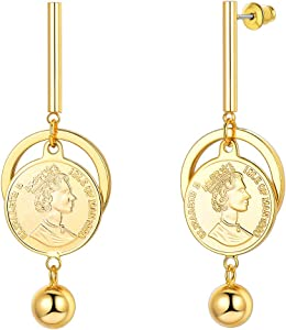FaithHeart Vintage Baroque Coin Dangle Earrings Giveaway