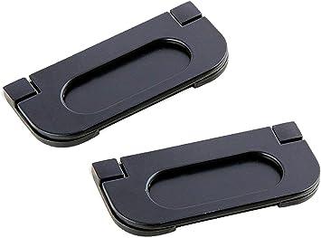SamIdea - Tirador de puerta para puertas de bolsillo, 2 unidades, de aleación, con tiradores de dedo empotrables para puertas correderas, armarios, cajones: Amazon.es: Bricolaje y herramientas