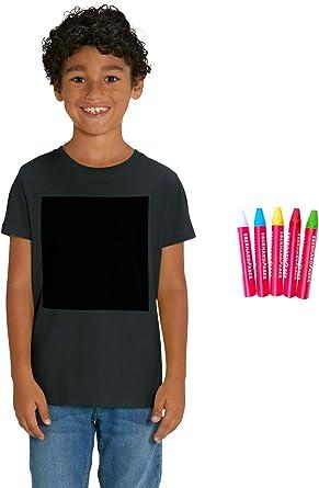 Hilltop Camiseta para niños Camiseta con Pizarra Hecha de Algodón Orgánico para niñas y niños, Diseña tu propia Camiseta, Diseño Personalizado, ...