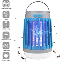 AICase Solar Camping Lantern with Bug Zapper, 6W Portable Waterproof Tent Light Camp Lamp Mosqutio Iinsect Killer with…