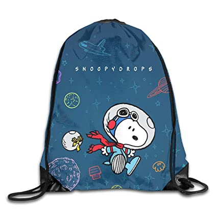 e2f676d439e815 Image Unavailable. Image not available for. Color  Meirdre Unisex Snoopy  Drops Sports Drawstring Backpack Gym Bag