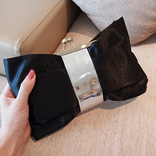 Black Ladies GZHGF Mariage Cravate Black Cadeaux Exquis Bow Bag Fashion 'Evening Lovely Nuptiale Bggq4P