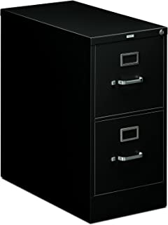 product image for HON 212PP 210 Series 28-1/2-Inch 2-Drawer Full-Suspension Letter File, Black