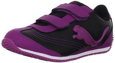 PUMA Speeder Illuminescent V Sneaker (Toddler/Little Kid/Big Kid),Black