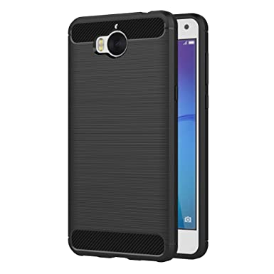 Or Carbone En Silicone Pour Huawei Y 6 (2018) I1koxqE1