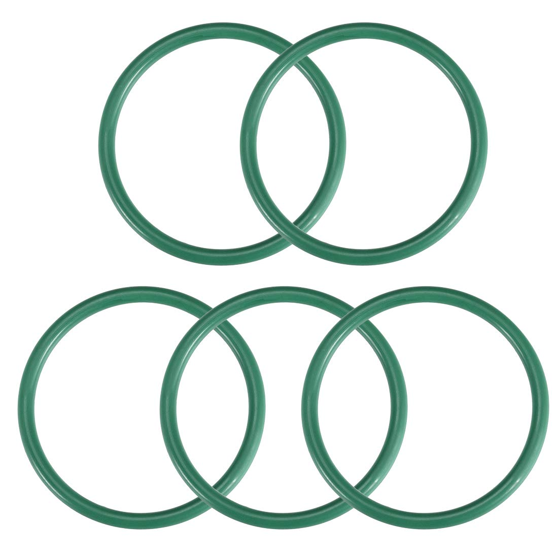 43mm Inner Diameter 50mm OD 3.5mm Width uxcell Fluorine Rubber O Rings Seal Gasket Green 5Pcs