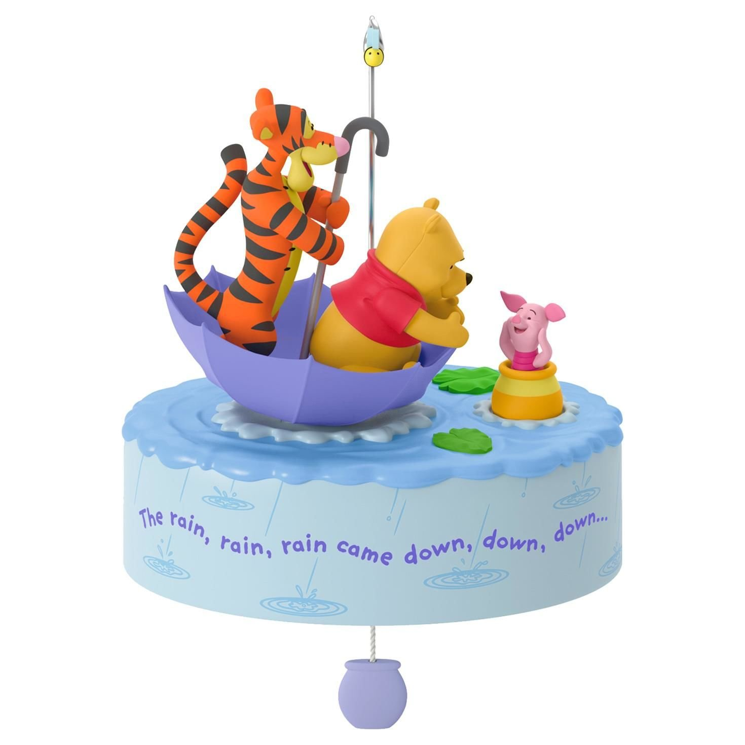 Hallmark Keepsake 2017 Winnie the Pooh A Blustery Day Musical Christmas Ornament With Motion