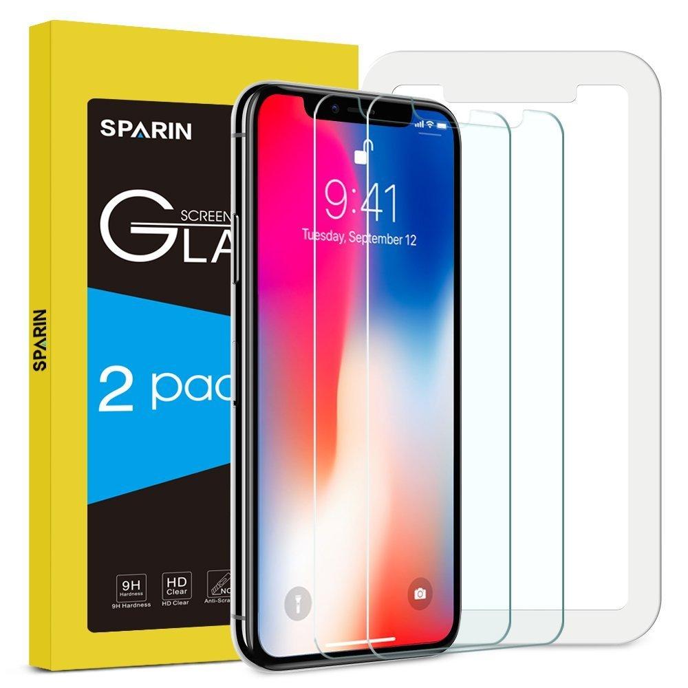 Pack Protector Pantalla iPhone X SPARIN Cristal Templado iPhone X Vidrio Templado