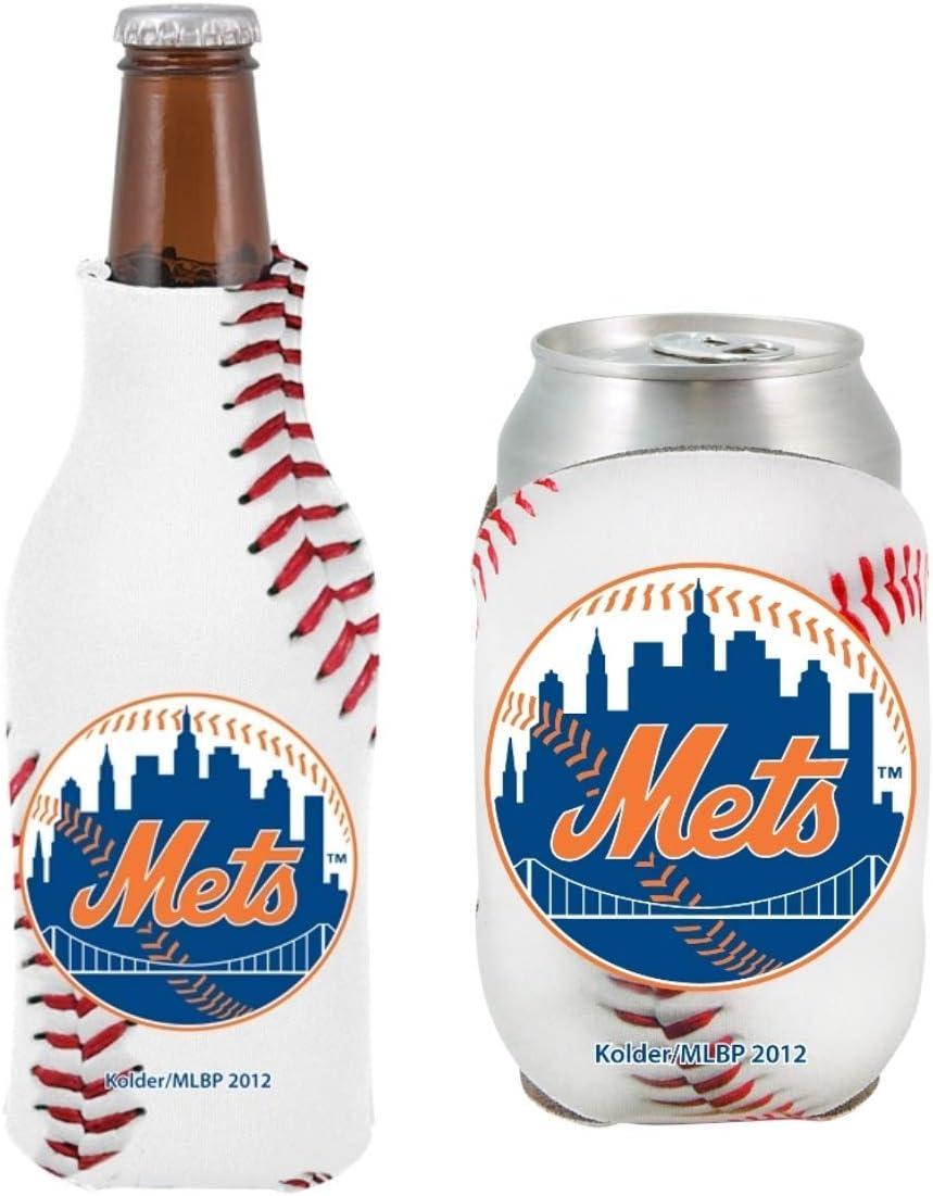 MLB Baseball Team Logo Bottle /& Can Coolie Set 12oz Beverage Drink Holder Sleeve Cooler