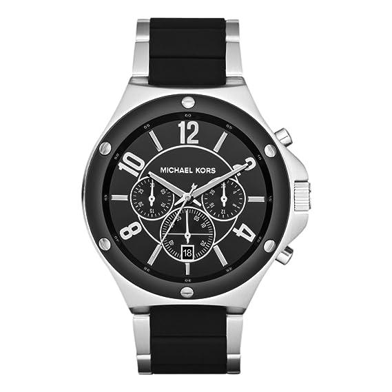 Michael Kors MK8272 de hombres reloj de cuarzo con esfera de color negro de silicona de color negro: Michael Kors: Amazon.es: Relojes