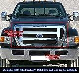 For 2004-2015 Ford F-650/F-750 Black Billet Grille Grill Insert