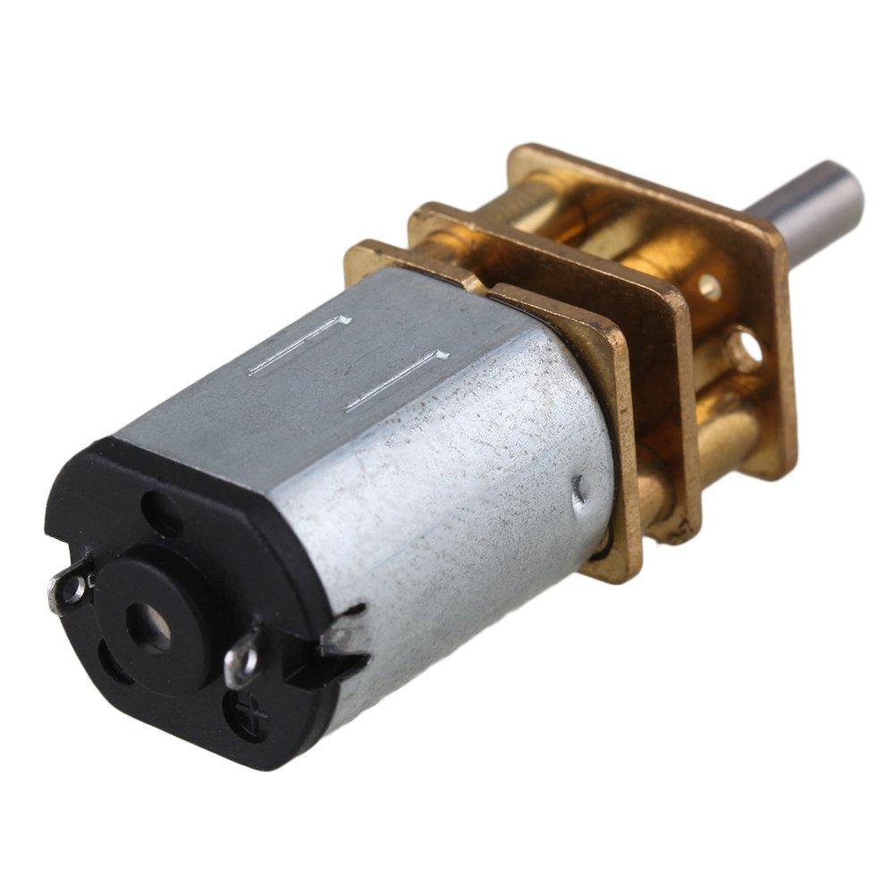 cnbtr 12/mm plata GA12-N20/2000RPM miniatura metal el/éctrico 6/V DC Gear Motor Gearwheel con salida de 10/mm eje plateado