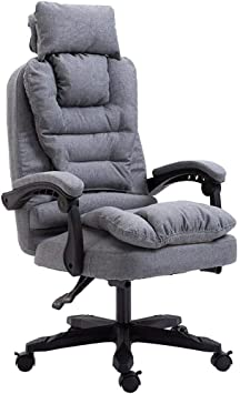 Amazon Com Ljfyxz Executive Swivel Computer Chair Extra Padded Office Chair Detachable Cloth Cover 155 Recliner Design Ergonomic Home Office Color Gray Furniture Decor