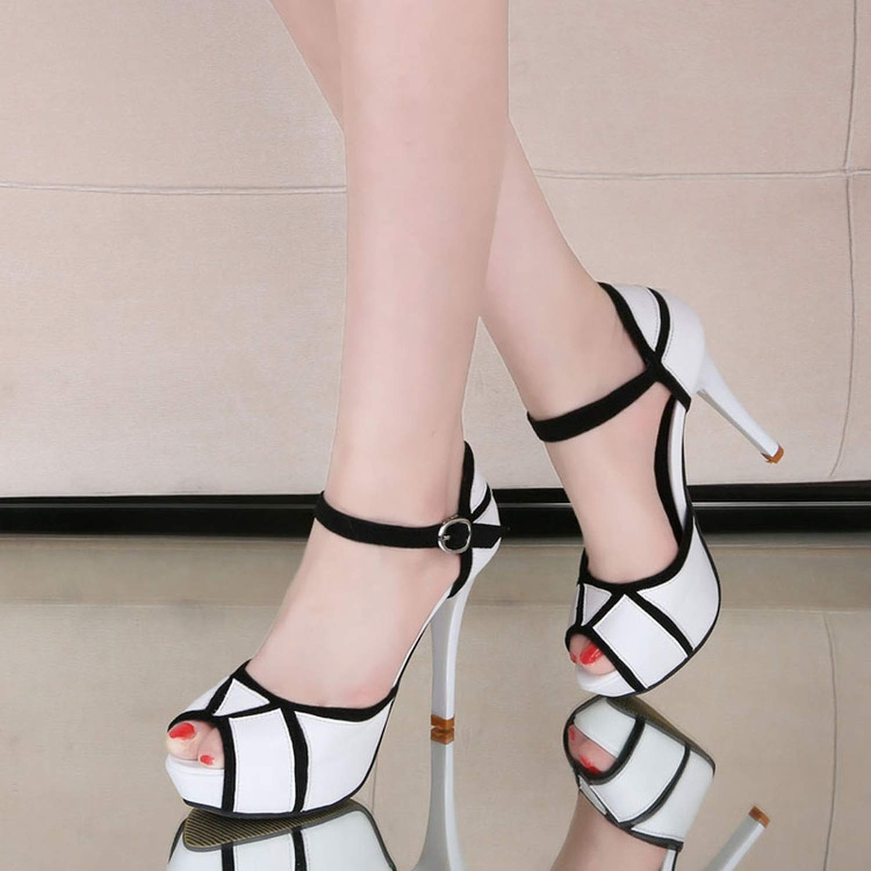 Witch-House 2018 New Women Sandal Shoes High Heel Platform Women Shoes Sandal Black Peep Toe Ladies Shoes 5 Black B07G5QBGW7 bddf46