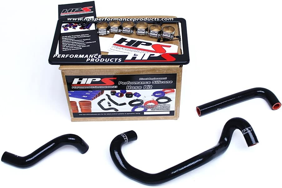 HPS 57-1421-BLK FC3S Black Silicone Heater Coolant Hose Kit