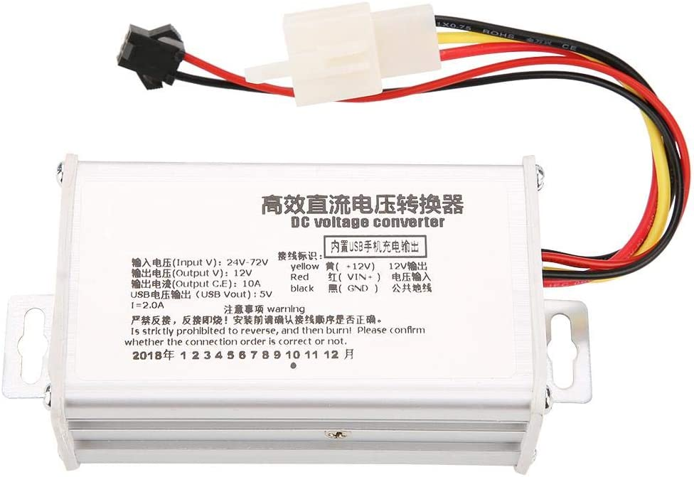 DC convertitore step-down modulo di alimentazione DC-DC 24/V-72/V a 12/V ad alta efficienza 10/A Buck regolatore di tensione con uscita USB 5/V 2/A