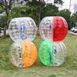 Ancheer Inflatable Bumper Bubble Balls Dia 5FT (1.5m) Human Knocker Body Zorb Ball Bubble Soccer Football (Red)