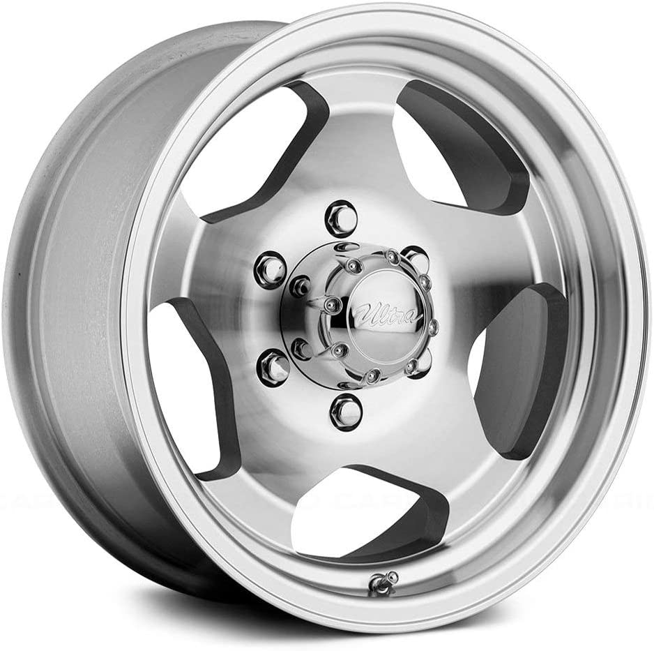 25 Offset Ultra 51Type 50 Сustom Wheel 108mm Hub 6x139.7 Bolt Pattern Silver with Machined Face and Lip 16 x 8