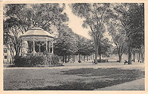 The Common, Band Stand, & Electric Fountain Lynn Massachusetts Postcard