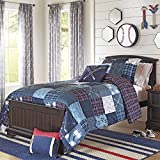 Soft, Fun and Stylish Better Homes and Gardens Kids Sports Reversible Quilt Bedding Comforter Set, Blue, Navy Blue, Full/Queen