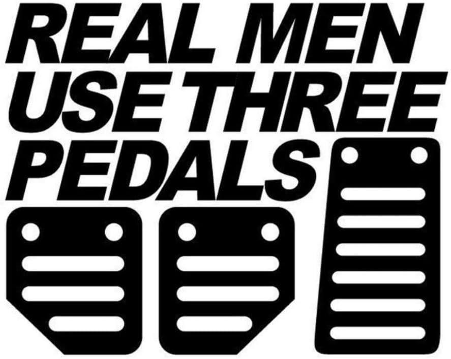 Fashion Car Sticker Real Men Use Three Pedals Car Vehicle Window Bumper Funny Decal Sticker Decor for Car