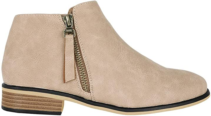 Ofenbuy Womens Ankle Boots Pointed Toe