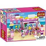 COGO Dream Girls House Building Bricks Blocks Playset Kits Birthday Gift Preschool Toys for Girls Age 6 Years Old Ice Cream Shop Dessert Store CG4513