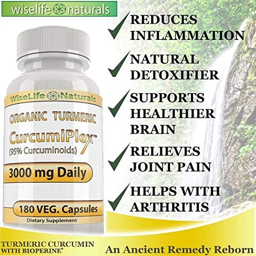 Tumeric Curcumin Supplement Anti Inflammatory Supplement Support Joint Pain Supplements Colon Cleanse Detox Made With Organic Turmeric Curcumin With Bioperine Tumeric With Black Pepper Capsules 180ct