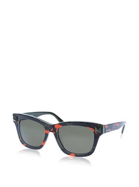 Valentino Gafas de Sol V670SC 53 (53 mm) Negro/Rojo: Amazon ...