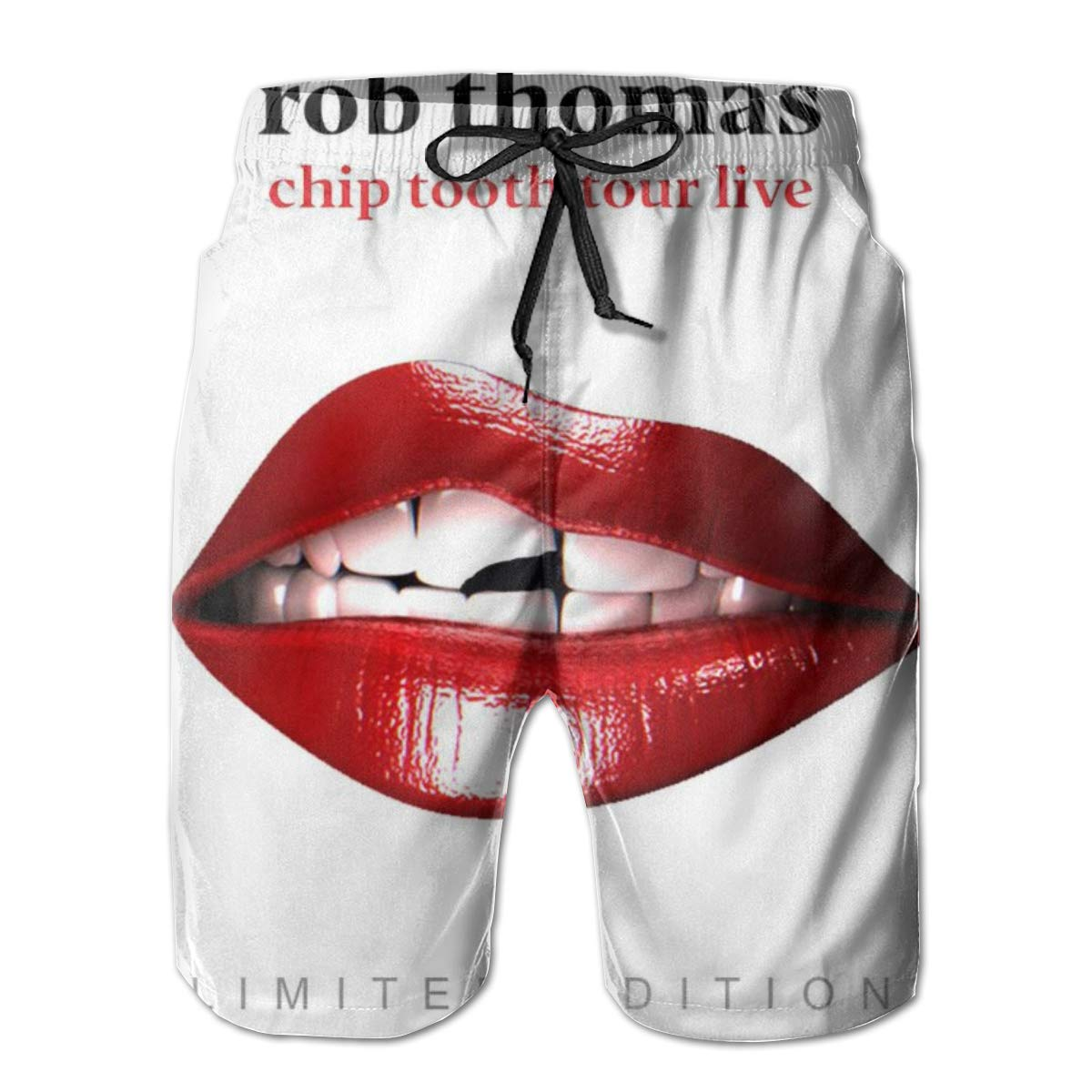 Nathalie R Salmeron Rob Thomas Chip Tooth Tour Mens Quick Dry Board Shorts Bathing Suit